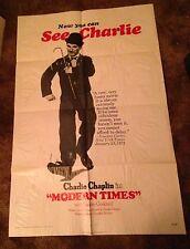 Charlie Chaplin Modern Times Reissue 1972 One-Sheet Movie Poster