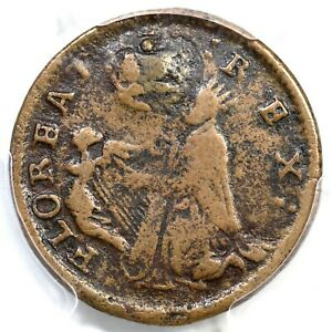 PCGS F 15 St. Patrick's Farthing Colonial Copper Coin