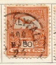 Hungría 1900 antiguo problema Fine Used 30f. 104371