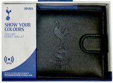 TOTTENHAM HOTSPUR FC RFID REAL LEATHER FOOTBALL SPURS MONEY WALLET PURSE THFC