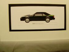 1980  Ford Mustang COBRA  From  50 Year Anniversary Exhibit by artist