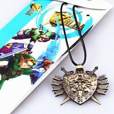 Anime The Legend of Zelda Bronze Alloy Pendant Necklace Jewelry Gift Brand New