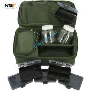 Carp Fishing Rigid Tackle Bag Carp Tackle Storage System Glug Pots Leads NGT