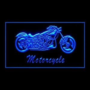 190072 Motorcycle Bike Sales Service Auto Detailing Display Neon Sign