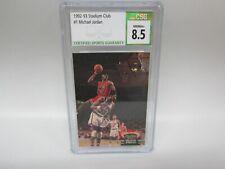 1992-93 Stadium Club Michael Jordan #1 CSG 8.5 NM/MT+ SLAM OVER EWING