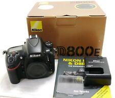 Nikon D800E digital camera body, 10104 actuations, boxed EXC++