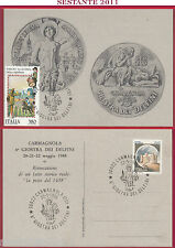 ITALIA MAXIMUM MAXI CARD CARMAGNOLA GIOSTRA DEI DELFINI LA PESTE A 1988 TO B246