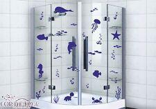 70x Meerestiere Set Aufkleber Wandtattoo Ozean See Fische Delphin Wal Badezimmer