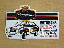 1980 Rothmans Manx International Trophy Rally Motorsport Sticker Decal
