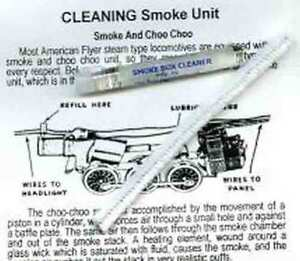 SMOKE UNIT CLEANING KIT for AMERICAN FLYER STEAM ENGINE TRAINS Parts