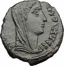 Constantine I The Great Veiled  Ancient Roman Coin Arising after death i32497