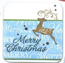 HERO ARTS clear stamp set MERRY CHRISTMAS Tree Reindeer Dove  CL469