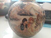 Vintage Genuine Satsuma Hand Painted Vase/Jar Japan