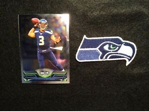 Seattle Seahawks Patch & Russell Wilson Card- Super Bowl Champion