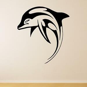 Jumping Dolphin v2 Animal Wall Sticker Decal Transfer Kids Bedroom Matt Vinyl UK