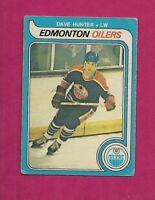 1979-80 OPC # 387 OILERS DAVE HUNTER GOOD ROOKIE CARD (INV# 8466)