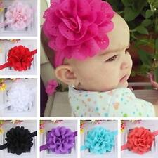 Chiffon Lace Flower Newborn Baby Hair Band Kids Girl Party Headband Headwear A95