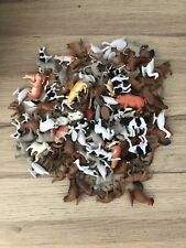FARM ANIMALS 20 Mixed Small Plastic Toys / Cake Toppers VGC