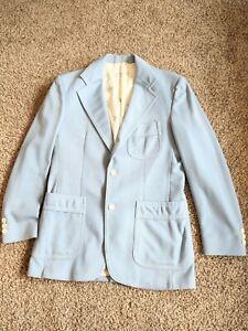 Levi's Panatela Vintage 1970s Mens Leisure Suit Coat Jacket Blazer Blue