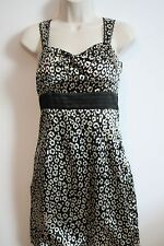 GUESS JEANS Womens Juniors Black Silver Geometric Strapless Stretch Dress Size 9