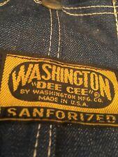 Vintage Nwt Washington Dee Cee Overalls 10oz Denim Small