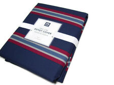 Pottery Barn Teen Multi Colors Navy Red End Line Stripe Twin Duvet Cover New