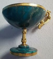 Vintage, style romain Cup, Made With Green & Couleur Gris Pierre, Circa: Années 1970...
