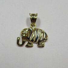 Elefantenanhänger Elefant Gelbgold 585 mit Teilrhodinierung - 674-2588