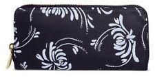 MERONA Navy Blue Floral Zip Around Wallet & Make-up Bag 2 piece Set - NWT