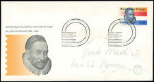 Netherlands 1984 William Of Orange FDC First Day Cover #C27853