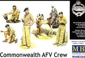 MB Masterbox - Commonwealth Afv Crew Bedouin & Camel 7 Figurines 1:3 5 Model Kit