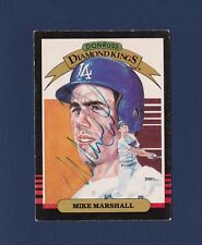 Mike Marshall signed Los Angeles Dodgers 1985 Donruss Diamond King BB card