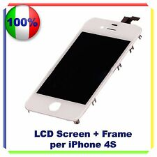 TOUCH SCREEN + LCD RETINA + FRAME PER IPHONE 4S BIANCO VETRO DISPLAY SCHERMO