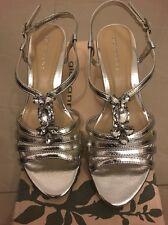 Ladies Brand New Evening/ Wedding / Dress Heels Shoes Size 7.5 Silver Metallic