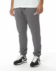 Nike Mens Club Fleece Cuffed Pant Charcoal Heather/White 2XL