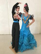 Vintage Retro Muñecas Marin Chiclana bailaora Figurillas Hombre Y Dama De 8 pulgadas