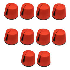12 X Rojo Hat Fez Despedida de Soltero Tommy Cooper Marroquí Turco Disfraz Hb