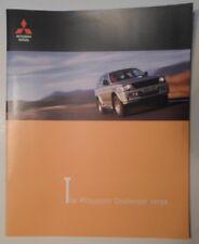 MITSUBISHI CHALLENGER orig 1999 UK Mkt Large Format Sales Brochure - 2.5 3.0
