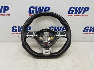 VOLKSWAGEN GOLF GTI BLACK LEATHER STEERING WHEEL WITH PADDLE SHIFT 02/09-04/13