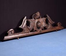 """*37"""" French Antique Pediment/Crest in Chestnut Wood Salvage"""