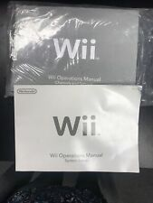 Nintendo Wii System Console User Operations Manual Quick Start Guide