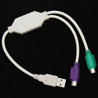 Dual USB zu PS2 Maus Tastatur Converter Kabel Adapter für Computer Desktop