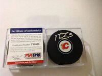 Mark Giordano Signed Calgary Flames Hockey Puck PSA DNA COA Autographed b