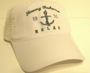 Tommy Bahama trucker baseball Cap hat white