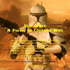 CD - Star Wars - A Force to Contend With - Movie Posters,Pics,Scripts - 5 eBooks