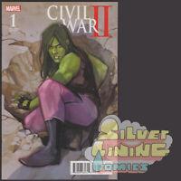CIVIL WAR 2 #1 NOTO SHE HULK VARIANT COVER 1ST PRINT MARVEL 2016
