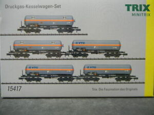 Minitrix 15417 Wagen-Set EVA  Druckgas-Kesselwagen, 5-teilig  Neuware