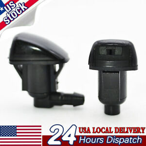 Pair Front Windshield Wiper Washer Nozzle Jet Spray Hood For Pontiac GMC Saturn