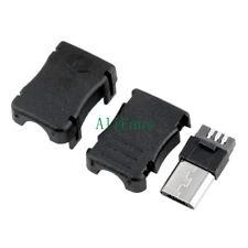 10PCS DIY Micro USB 5 Pin T Port Male Plug Socket Connector&Plastic Cover best