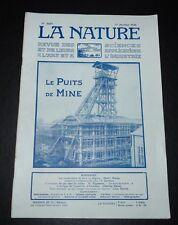 REVUE LA NATURE N°2650 1925 PUITS DE MINE / SEISMES ALGERIE / AMUNDSEN / FOURMIS